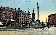 Soldiers Monument - Racine, Wisconsin WI Postcard