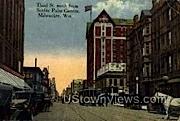 Third St. - MIlwaukee, Wisconsin WI Postcard