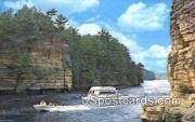 Jaws of the Dells - Wisconsin River Postcards, Wisconsin WI Postcard