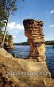 Chimney Rock - Wisconsin River Postcards, Wisconsin WI Postcard