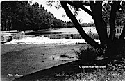 The Dam - Waukesha, Wisconsin WI Postcard