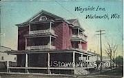 Wayside Inn - Walworth, Wisconsin WI Postcard