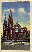 St. James Church - Wausau, Wisconsin WI Postcard