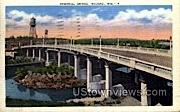 Memorial Bridge - Wausau, Wisconsin WI Postcard