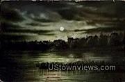 Moonlight - Wausau, Wisconsin WI Postcard