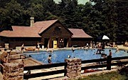 Swimming Pool  - Watoga State Park, West Virginia WV Postcard