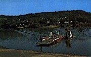 Ohio River  - Sistersville, West Virginia WV Postcard