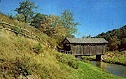 Indian Creek Covered Bridge  - Union, West Virginia WV Postcard