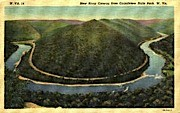 From Grandview State Park - New River Canyon, West Virginia WV Postcard