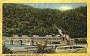 Kanawha River Dam - London, West Virginia WV Postcard