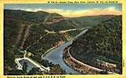 New River Canyon - West Virginia WV Postcard