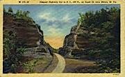 Deepest Highway Cut - Welch, West Virginia WV Postcard