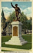 Barbour County Soldier's Memorial - Philippi, West Virginia WV Postcard