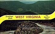 New Creek Mountain, WV,     ;     New Creek Mountain, West Virginia Postcard