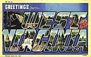Greetings from West Virginia Postcard