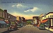 Business District - Moundsville, West Virginia WV Postcard