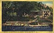 Swimming Pool & Admin Bldg - Babcock State Park, West Virginia WV Postcard