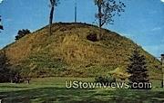 Mammoth Mound - Moundsville, West Virginia WV Postcard