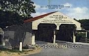 Old Covered Bridge - Philippi, West Virginia WV Postcard