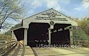Covered Bridge - Philippi, West Virginia WV Postcard