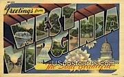 Greetings from, West Virginia Postcard      ;      Greetings from, WV
