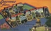 Greetings from, WV Postcard      ;      Greetings from, West Virginia