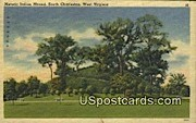 Historic Indian Mound - South Charleston, West Virginia WV Postcard