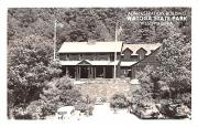 Administration Building - Watoga State Park, West Virginia WV Postcard