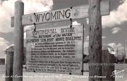 Sign at Continental Divide on US 30 - Wyoming WY Postcard
