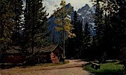 Cottages, Jenny Lake Lodge - Jackson Hole, Wyoming WY Postcard