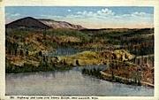 Highway & Lake - Laramie, Wyoming WY Postcard