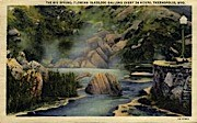 The Big Spring - Thermopolis, Wyoming WY Postcard