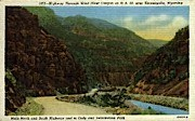 Wind River Canyon - Thermopolis, Wyoming WY Postcard