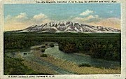 Elk Mountain - Medicine Bow River, Wyoming WY Postcard