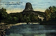 Devil's Tower National Monument, WY Postcard      ;      Devil's Tower National Monument, Wyoming Po