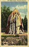 Teepee Fountain - Thermopolis, Wyoming WY Postcard