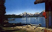 Jackson Lake & The Tetons - Jackson Hole, Wyoming WY Postcard