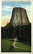 Devil's Tower National Monument, Wyoming Postcard      ;      Devil's Tower National Monument, WY Po