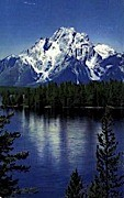 Mt. Moran & Jackson Lake - Jackson Hole, Wyoming WY Postcard