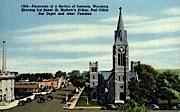 Post Office, Bus Depot - Laramie, Wyoming WY Postcard