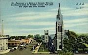 3rd St., St. Mathew's Abbey - Laramie, Wyoming WY Postcard