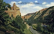 North Fork Shoshone River - Misc, Wyoming WY Postcard