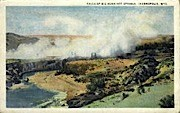 Falls, Big Horn Hot Springs - Thermopolis, Wyoming WY Postcard