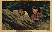 Two Little Indians - Misc, Wyoming WY Postcard