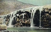 Falls from the Springs - Thermopolis, Wyoming WY Postcard