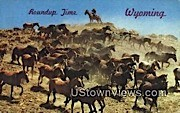 Roundup Time - Misc, Wyoming WY Postcard
