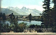 Menor's Ferry, Snake River - Wyoming WY Postcard