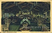 Canyon Hotel Lounge - Yellowstone Park, Wyoming WY Postcard