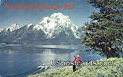 Jackson Lake - Mount Moran, Wyoming WY Postcard