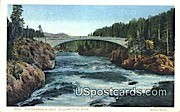 Chittenden Bridge - Yellowstone Park, Wyoming WY Postcard